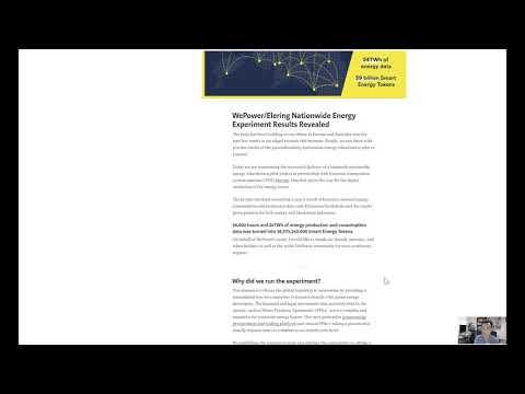 WePower & Elering Experiment Updates