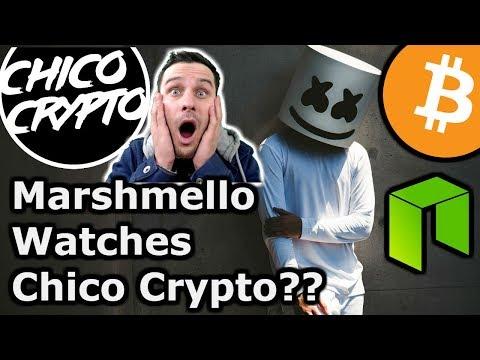 DJ Marshmello❤️Chico Crypto   Did He Jump On My Live Stream??--Marshmello $BTC $NEO $ETH