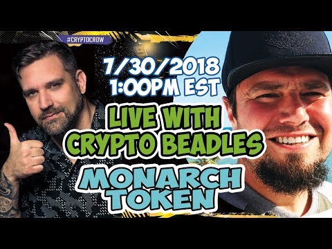 Live With Crypto Beadles - We Talk Monarch Token - Crypto News and More
