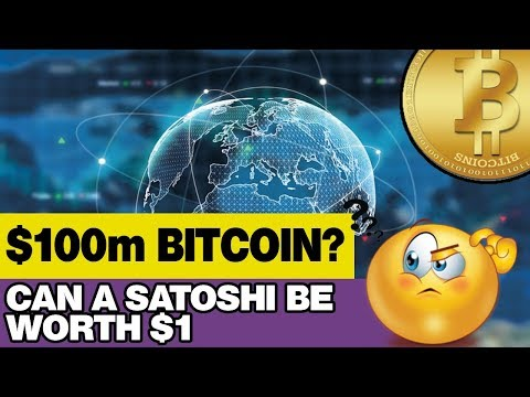 Is $100 Million Bitcoin Possible? Can A Satoshi Be Worth $1? The Bigger Picture...