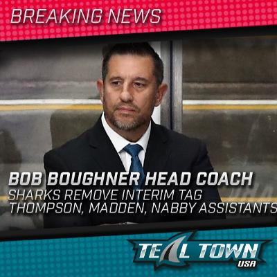 Teal Town USA Live - Bob Boughner Officially Named Sharks Head Coach  - 9-22-2020