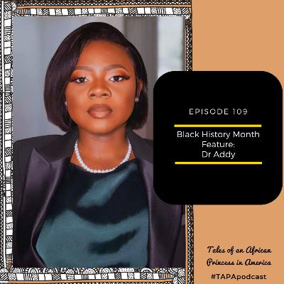 Black History Month Feature: Dr Addy