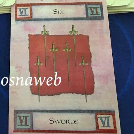Tarot da Semana - Seis de Espadas