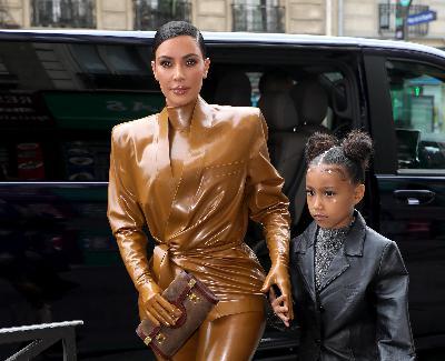 "5: 09/10/21 - North West Adorably Trolls Her Mom Kim Kardashian For ""Talking Different"" In Videos on Instagram"