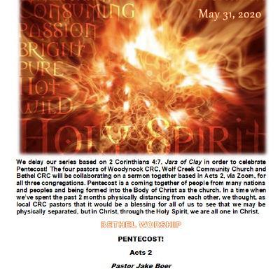 May 31/20   PENTECOST!