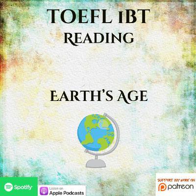 TOEFL iBT | Reading | Earth's Age