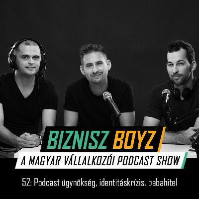 52. Podcast ügynökség, vállalkozói identitáskrízis, babahitel | Biznisz Boyz Podcast