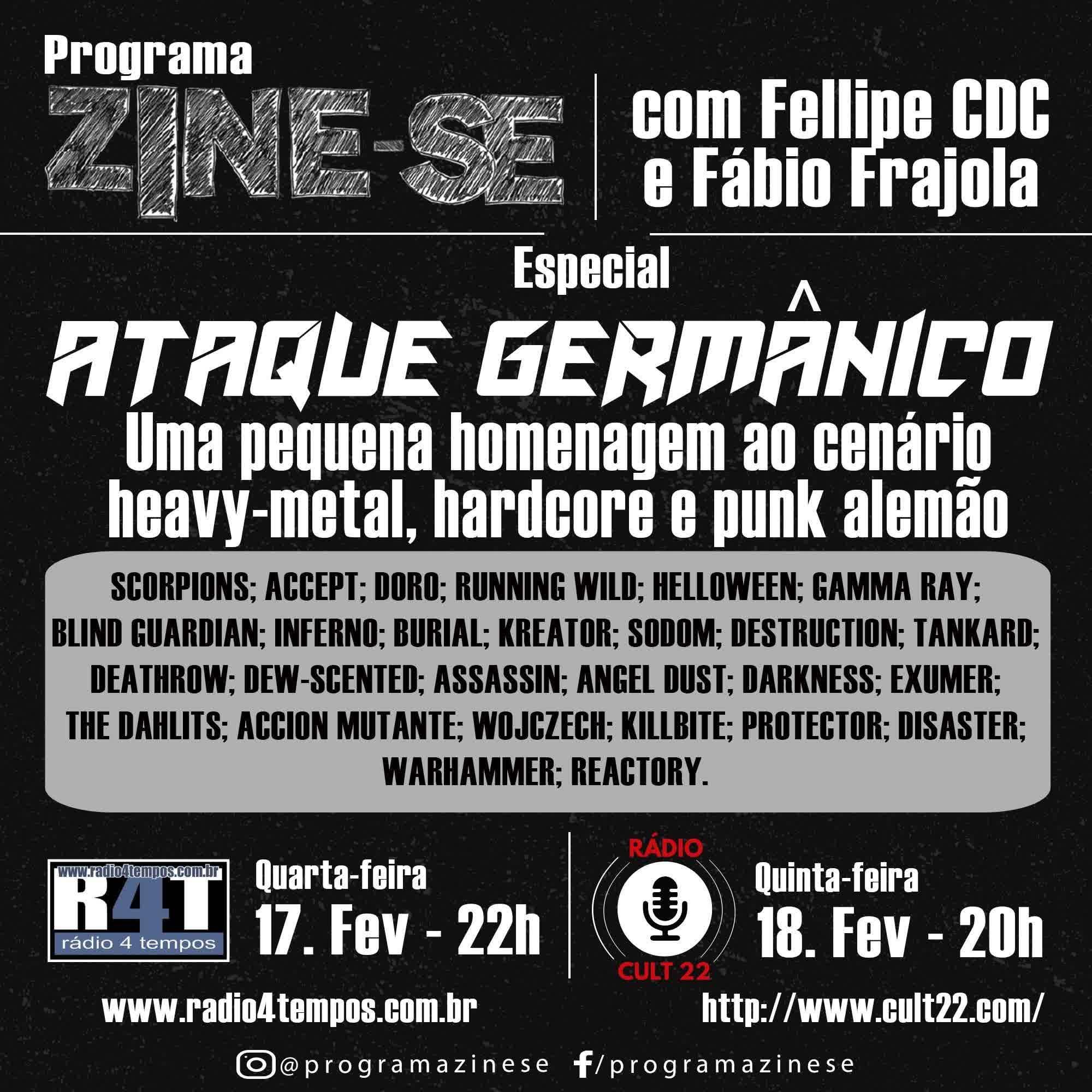 Rádio 4 Tempos - Zine-se 210:CdC e Frajola