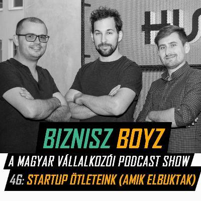 46. Startup ötleteink (amik elbuktak) | Biznisz Boyz Podcast