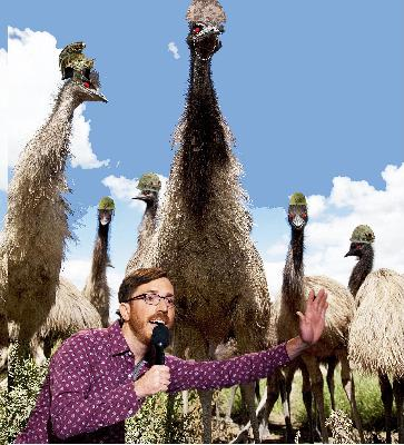 Episode 14:  (The great Emu War with Comedian Joe Zimmerman)