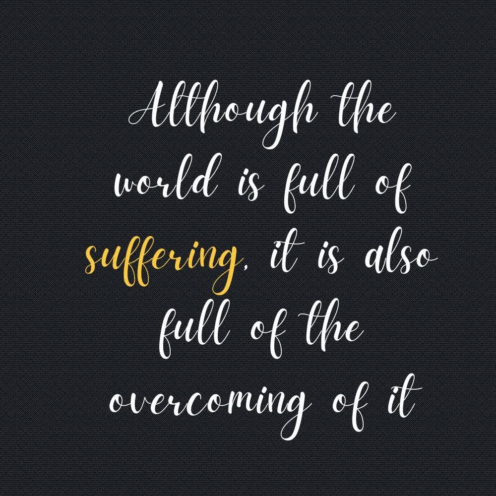 Is suffering within me or outside of me?