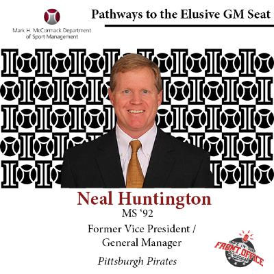 Former GM of Pittsburgh Pirates, Neal Huntington, UMASS, Elusive GM Seat Series