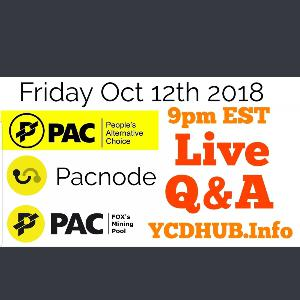 Paccoin Live Q@A Pacnode