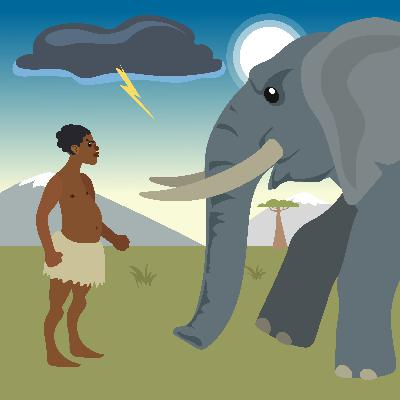 Learn About the Origin of Hunting Elephants in this African Folktale -Storytelling Podcast for Kids -Thunder, Elephant, and Dorobo E:111