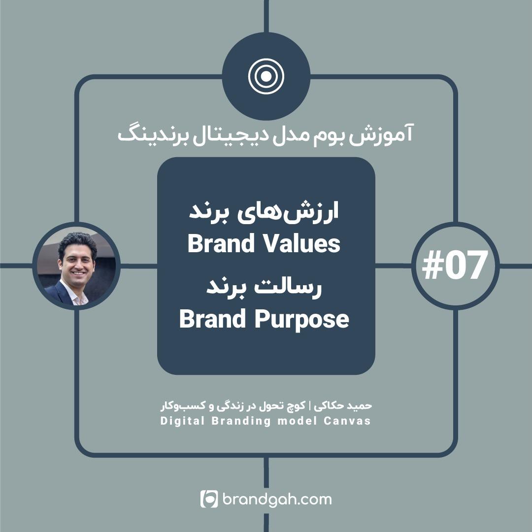 ۰۷: ارزشهای برند و رسالت برند