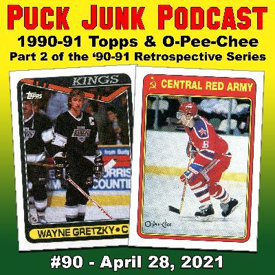 1990-91 Topps & O-Pee-Chee Hockey Cards | #90 | 4/28/2021