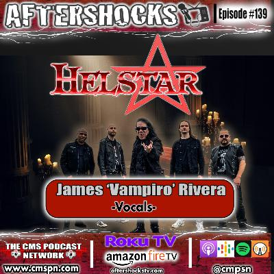 "Aftershocks TV | Interview with Helstar Vocalist James ""Vampiro"" Rivera"