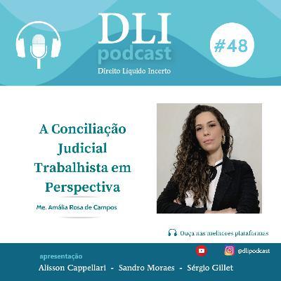 #48 – A Conciliação Judicial Trabalhista em Perspectiva – com Amália Rosa de Campos