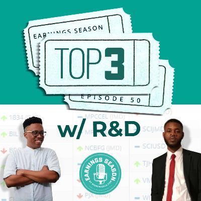 Top 3 with R and D