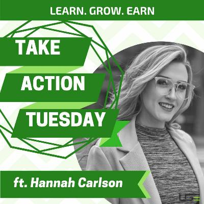 #TakeActionTuesday with Hannah Carlson