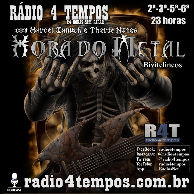 Rádio 4 Tempos - Hora do Metal 174:Marcel Ianuck e Therje Nunes
