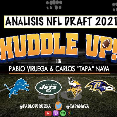 #HuddleUP #NFLDraft Análisis #Vikings #Lions #Jets #Ravens con @TapaNava y @PabloViruega