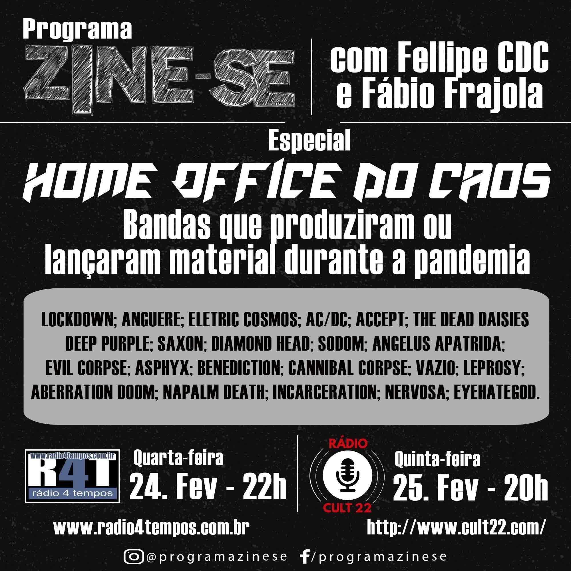 Rádio 4 Tempos - Zine-se 211:CdC e Frajola
