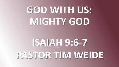 God With Us: Mighty God