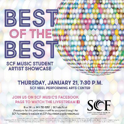 SCF Music's Best of the Best Recital: Thursday, January 21, 7:30 p.m.