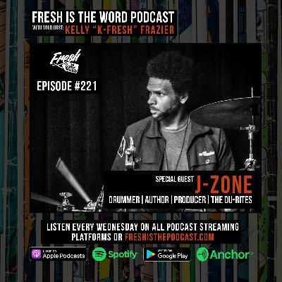 Episode #221: J-Zone – Drummer, Author, Producer, and Former Rapper, New 7″ Single from The Du-Rites Available Now