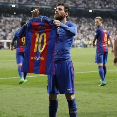 O gol 500 de Messi cala o Bernabéu