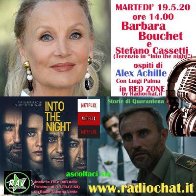 Barbara Bouchet e Stefano Cassetti (Terenzio di Into the night) ospiti di Alex Achille in RED ZONE by Radiochat.it