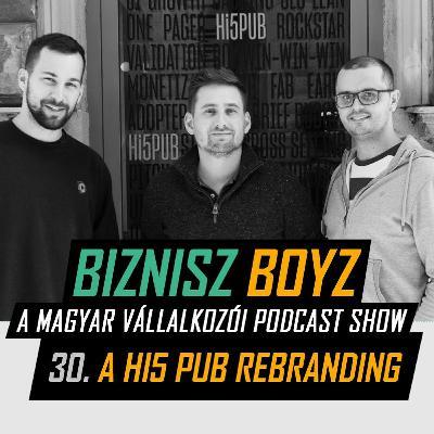 30. Hogy áll a Hi5 Pub 1,5 év után - A Hi5 rebranding   Biznisz Boyz Podcast