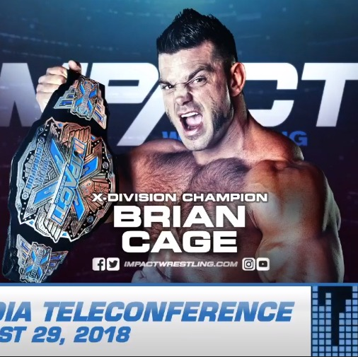 BRIAN CAGE IMPACT WRESTLING PRESS CONFERENCE