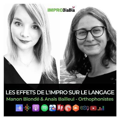 Les effets de l'impro sur le langage - Manon Blondé & Anaïs Bailleul (orthophonistes)