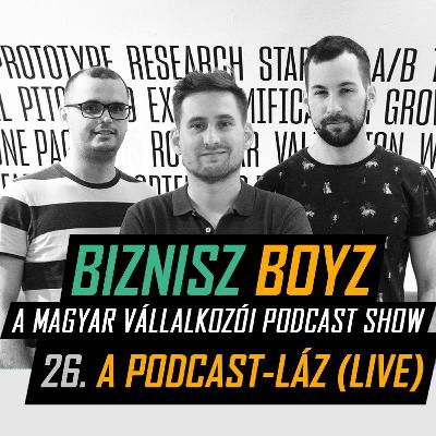 26. A Podcast-láz (LIVE) - A podcast piac jelene és a BB jövője | Biznisz Boyz Podcast