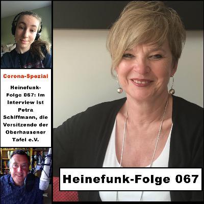 Heinefunk-Folge 067: Im Interview ist Petra Schiffmann, die Vorsitzende der Oberhausener Tafel e.V.