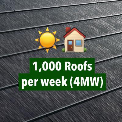 Tesla Solarglass Roof: $1B+ Revenue Runrate