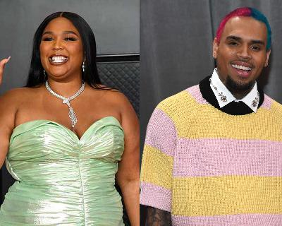21: 10/04/21 - People Are Not Feeling 'Good As Hell' About Lizzo Fangirling Over Chris Brown Backstage At The Millennium Tour