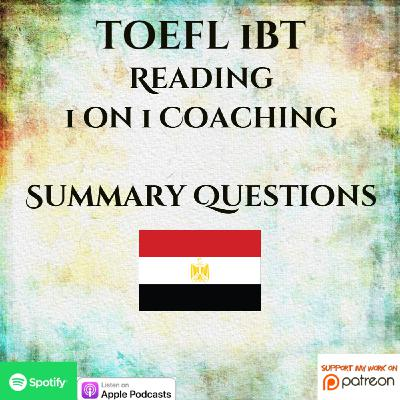 TOEFL iBT | Reading | 1 on 1 Coaching | Summary Questions | Cave Art in Europe & Deer Populations