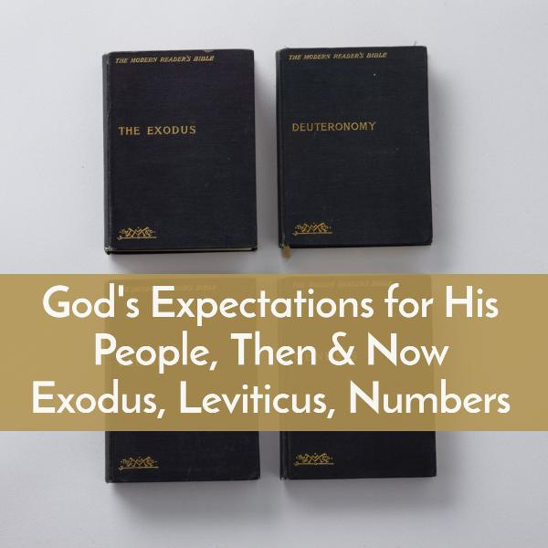 God's Expectations for His People, Then and Now illustrated in Exodus, Leviticus, and Numbers