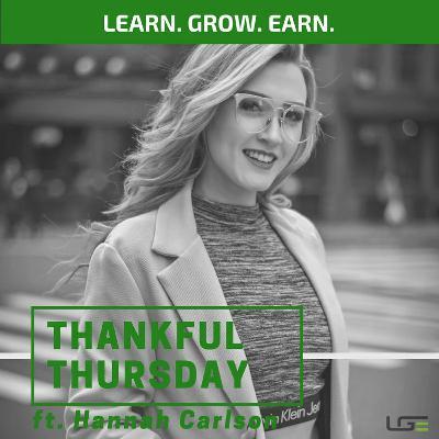#ThankfulThursday with Hannah Carlson