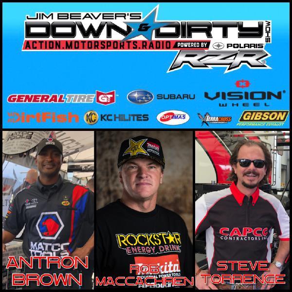 Rob MacCachren, Antron Brown, & Steve Torrence On Air!