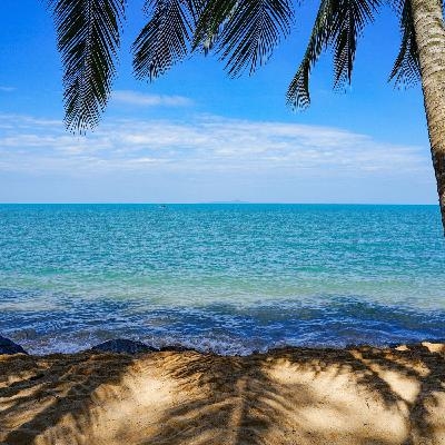 Sit By The Blue Ocean With Sea Waves and - Amazing and Relaxing Meditation Music...