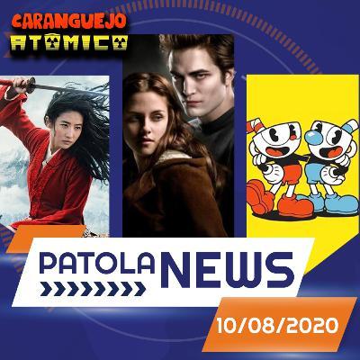 PATOLA NEWS 10/08/2020 | Cuphead, a volta de Crepúsculo, Homem-Aranha nos Vingadores e Mulan fora dos cinemas
