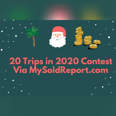 Episode 162: Real Estate 🏡 Santa 🎅 is coming to town for the 20 trips 🏖 in 2020 contest!