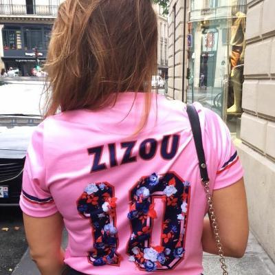 Lucie et le maillot rose de Zidane