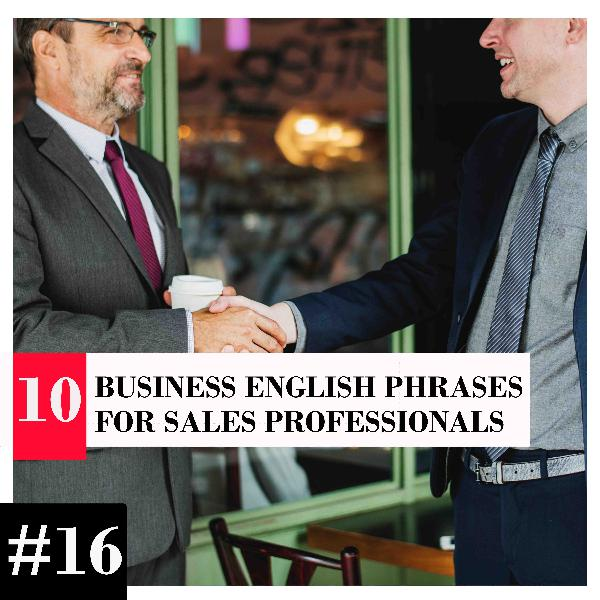 10 Business English Phrases for Sales Professionals