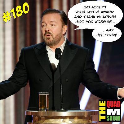 #180 - Ricky Gervais, Neil Peart, & Top Ten Stripper Names