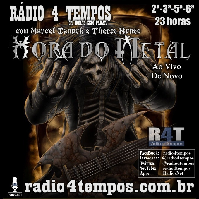 Rádio 4 Tempos - Hora do Metal 178:Marcel Ianuck e Therje Nunes